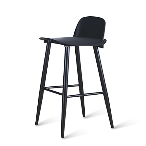 PLL Nordic Book Bar hoge stoel eenvoudige Cafe Bar vrije tijd rugleuning kruk metalen stoel been verdikte en uitbreiding