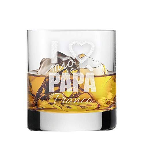 Bicchiere da Whisky Festa del papà - I Love Mio papà