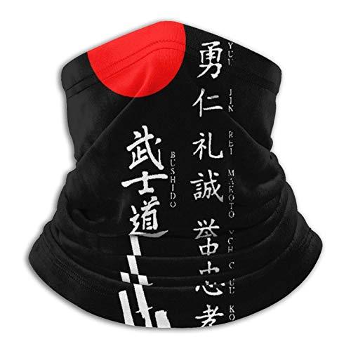 Multifuncional uso turbante cuello polaina mas-k pasamontañas anti-UV polvo calentador de cuello unisex Japanischer Kanji Samurai Bushido