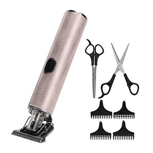 Depiladoras y accesorios eléctricos profesionales para depilar Cortapelos Cortapelos con carga USB Cortadora en forma de R Herramienta de peinado para peluqueros familiares Peluquería [Rose Gold]