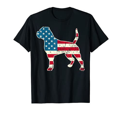 American Bulldog 4th of July Dog Lover Men USA American Flag T-Shirt