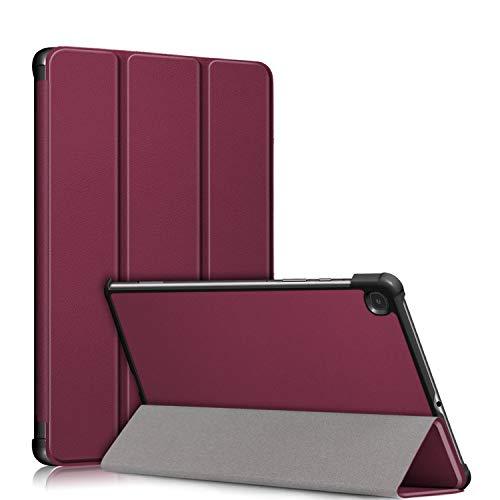 TOPCASE Custodia Ultrasottile Compatibile con Samsung Galaxy Tab S6 Lite 10.4 SM-P610/SM-P615 Cover con funzione di supporto e Auto Sveglia/Sonno,vino rosso