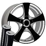 VViViD Black High Gloss Mirror Finish Auto Rim Air-Release Adhesive Vinyl Wrap (36' x 60' 2 Roll Pack)