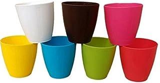 VGreen Garden Store Plastic Flower Pot, Multicolour, Standard, 4 Pieces