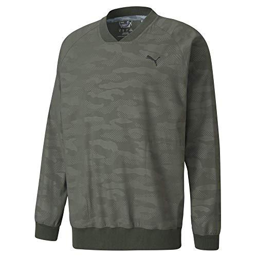 PUMA Golf 2020 Men's Embossed Wind Shirt, Thyme, Tripe Extra Large