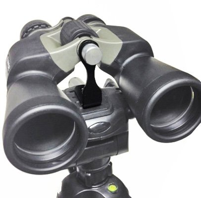 MagniVisionPro Universal Metal L Shaped - Extra Strong and Sturdy Binocular Tripod Adapter Bracket - For Mounting Binoculars to any Tripod