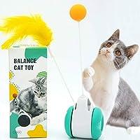 猫じゃらし 羽 猫のおもちゃ 猫 ボール タンブラーバランス車 ペットおもちゃ 自動回転ボール じゃらし遊びカシャカシャ 一人遊び 運動不足解消 ストレス解消対策 安全素材