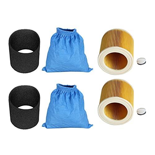 Yang Bolsas de Filtro Textil Filtro de Espuma húmedo y seco HEPA Filtro de Ajuste para Karcher MV1 WD1 WD2 WD3 Aspiradora de aspiradora (Color : Blue Black Yellow)