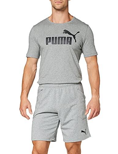 PumaLIGA Casuals Shorts, Pantalones Cortos, Hombre, Gris (Medium Gray Heather-Puma Black), M