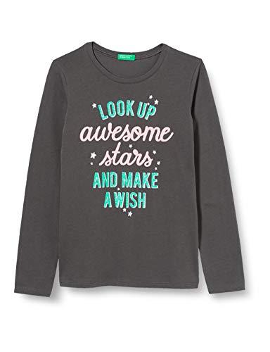 United Colors of Benetton Mädchen T-Shirt M/l Langarmshirt, Grau (Magnet 19c), 104 (Herstellergröße: XX)