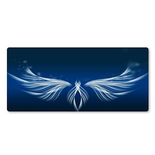 HONGHUAHUI witte vleugels kunst muismat hoge kwaliteit rubberen muismat PC computer tafel mat spel accessoires grote mat, 700x300x2MM 700x300x2MM
