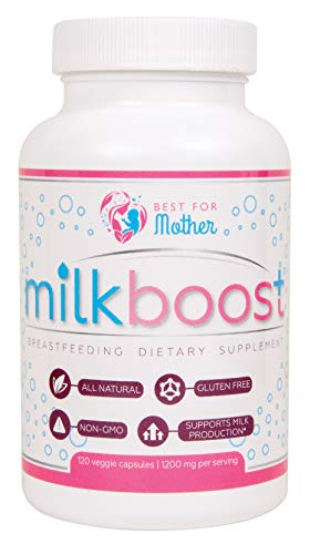 MILKBOOST by BestForMother | Lactation Supplement for Breastfeeding Mothers - Make Breastfeeding Great Again ! | 1200 mg Special Herbal Blend in Each Capsule 120 CPS