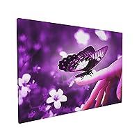 Skydoor J パネル ポスターフレーム 指に紫の蝶 インテリア アートフレーム 額 モダン 壁掛けポスタ アート 壁アート 壁掛け絵画 装飾画 かべ飾り 40×60