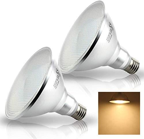 Pack of 2 LED 15W E27 Spot PAR38 Reflektor Strahler Licht Leuchtmittel warmweiß 3000K Lampe 1400lm Eqv. to 150W Halogen Reflector Lampen (Nicht Dimmbar)