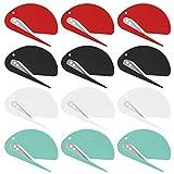specool Abrecartas - Abrecartas cortadora de sobres con hoja de afeitar de plástico para doméstico y oficina uso (12 piezas, colores mezclados)