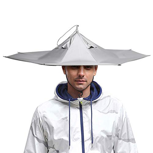 "AIFUSI Umbrella Hat, Sun Rain Cap Colorful Folding Headwear 23""for Party, Outdoor, Fishing,Hunting and Gardening, UV Protection"