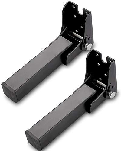 2 Piezas Patas Plegables para Somier, Patas Plegables Metalicas para Mesa, Patas Plegables para Sofá, H 14~40cm (Negro, H 30cm)