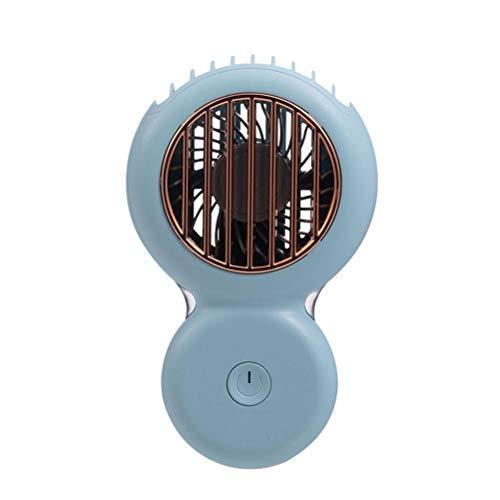 AYily Mini ventilador portátil de cuello Lazy, manos libres para colgar en el cuello, recargable por USB