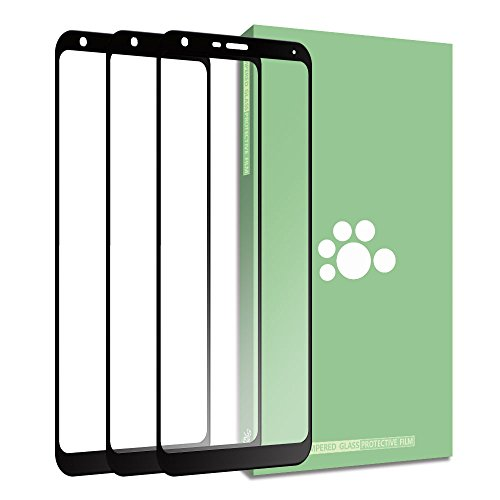 LG Stylo 4 Tempered Glass Screen Protector-(3 Pack) Clear Anti-glare Anti-Fingerprint Anti-Scratch Shatter proof Ultra-thin 9H Full Coverage Silk Print Protective Film For LG Stylo 4 Q710 Q710MS 6.2