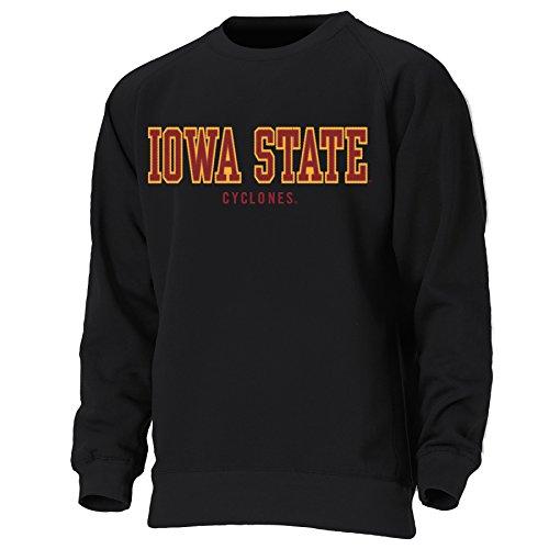 Ouray Sportswear NCAA Herren Sweatshirt Block Letters Rundhalsausschnitt, Erwachsene, Herren, schwarz, Large