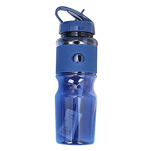 NYWENY Taza espacial de gran capacidad portátil botella de agua deportes al aire libre plástico fruta jugo taza adulto pareja gimnasio Copa senderismo viaje seguro PP+PC 720ml