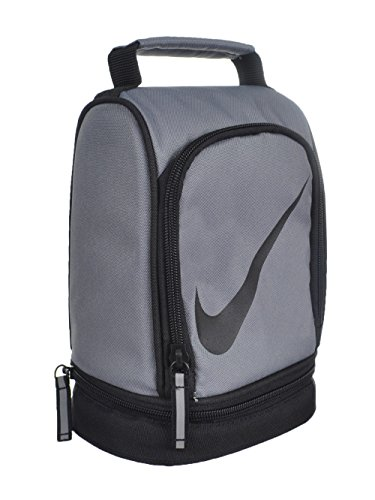 Nike Paneled Upright Insulated Lunchbox - Gray/Black, one Size
