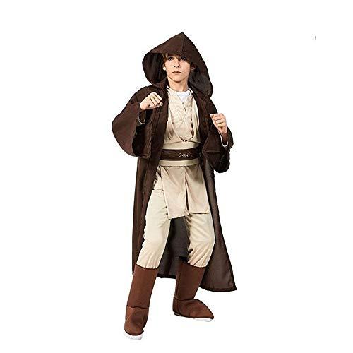 XIAOYUTOU New Boys Star Wars Deluxe Jedi Warrior Película Personaje Cosplay Ropa de Fiesta Niños Fancy Halloween Purim Carnaval Disfraces (Color : Jedi Warrior, Size : M-Star Wars)