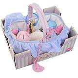 Puppenzubehör Wickeltasche Tasche für Kinder Puppenzubehör Babypuppe Spielzeug Rassel Flasche...