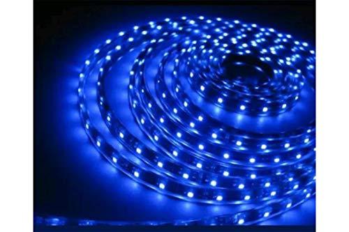 Striscia Strip LED Luce Blu 5 Mt Metri Flessibile Adesiva 600 SMD 2835 Top