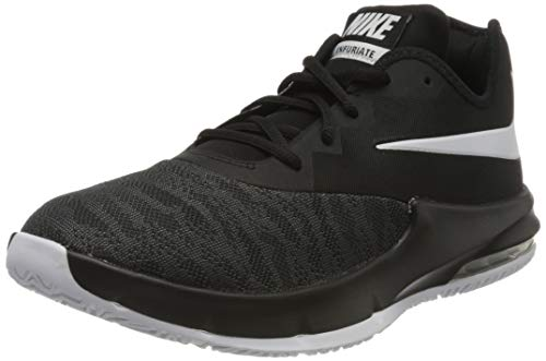 Nike Herren AIR MAX Infuriate III Low Basketballschuhe, Schwarz (Black/White/Dark Grey 000), 45 EU