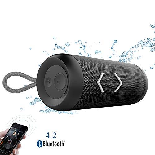 Speaker-EJOYDUTY wandelen van waterdichte TWS Surround stereo doucheluidsprekers, ondersteuning QI draadloos opladen, 14 W mini Bluetooth muziekluidspreker, voor kamperen, reizen