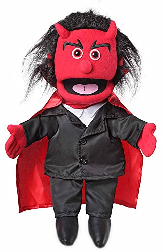 Silly Puppets Handpuppe mit 14 Teufel-Handpuppen
