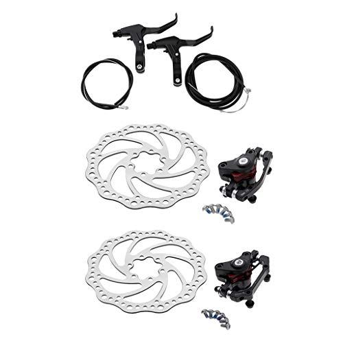 Baoblaze Frein à Disque Mécanique pour Vélo Avant Et Arrière 160mm avec Boulons et Câble