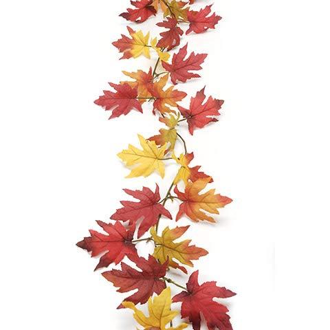 Set of 3 | Fall Maple Leaf Garlands | 6 feet Each