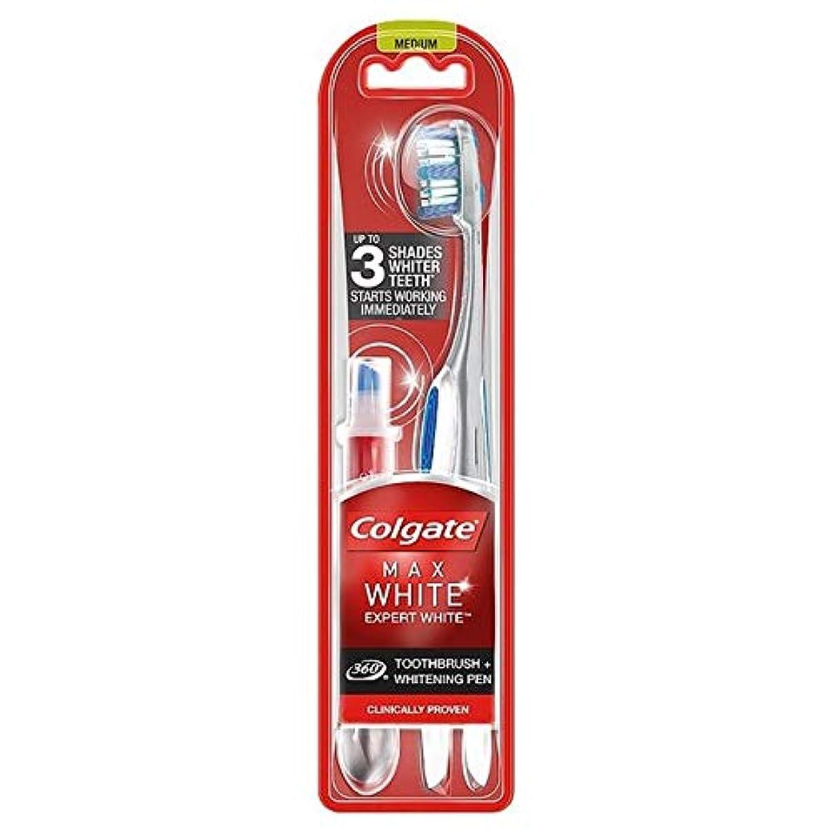 斧機会封建[Colgate ] コルゲート最大白の専門家の歯ブラシ&ホワイトニングペン - Colgate Max White Expert Toothbrush & Whitening Pen [並行輸入品]