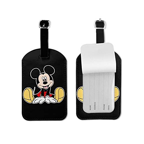 Mickey Cartoon Mouse Alto Grado PU Cuero Profesional Personalidad DIY Impresión Maleta Privacidad Equipaje Tag Moda