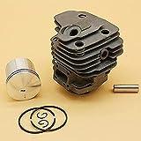 Juego de pistón de cilindro de 50 mm Repuestos de repuesto para motosierra Partner K650 K700 506 09 92 12, 506099212 Piezas de sierra de corte de concreto (tamaño: K650 50MM) Eficiente