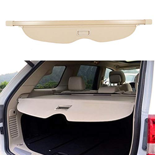 BOPARAUTO Cargo Cover for Jeep Grand Cherokee Accessories Beige Water Proof 2011-2019 2020 2021 Rear...