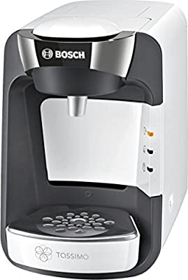 Tassimo Bosch TASSIMO Suny TAS3204GB Coffee Machine, 1300 Watt, 0.8 Litres - White