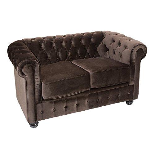 Sofá de 2 plazas Chester marrón