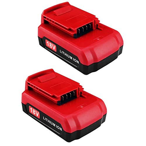 18 Volt 3.0Ah PC18B Replacement Battery, Compatible with Porter-Cable 18V Lithium Battery PCC489N PCXMVC PC18BL PC18BLX PC18B-2 Cordless Power Tools Batteries