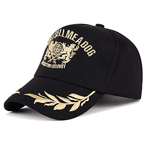 Heren Baseball Cap, Casual Sport Trucker Cap voor Mannen Vrouwen, Maat Verstelbaar, Stuur uw man het beste cadeau-56-59cm (verstelbare hoofdomtrek grootte), zwart