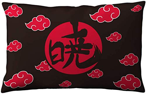 New Akatsuki Red Clouds Naruto Shippuden Anime Bedding Pillow Case Cover