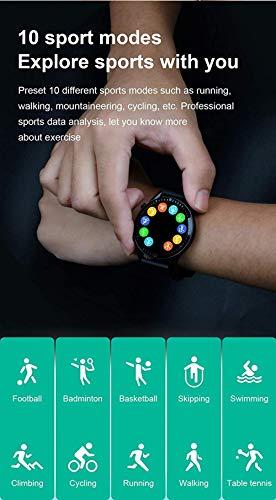 El nuevo i9 reloj inteligente Full Touch pantalla redonda Bluetooth llamada hombres y mujeres s deportes fitness impermeable smartwatch para Android Ios-D