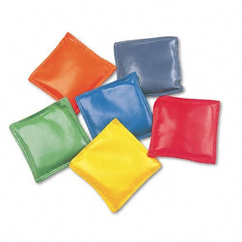 """Champion Sports : Bean Bag Set, Vinyl, 4"""", Assorted Colors, Six per Set -:- Sold as 2 Packs of - 6 - / - Total of 12 Each"""