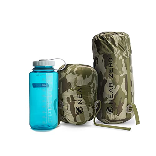 Ultralight 900 Fill Power Down Quilt Sleeping Bag - 1 Pound - Ultra Compact (Camouflage) for Moderate use Temperatures