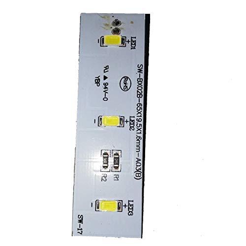 LICHIFIT Barra de luz LED de repuesto para refrigerador Electrolux ZBE2350HCA SW-BX02B pieza de reparación