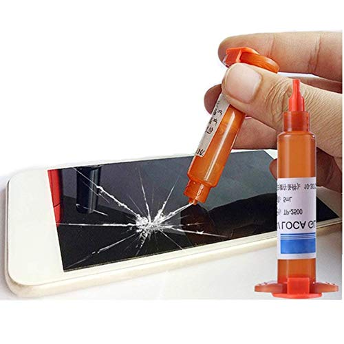 Rikay 5ml Liquid Optical Clear Adhesive Glue Adhesive Transparent Suitable for All Smartphone Repair Fill Cracks Repair Tools (5ml)