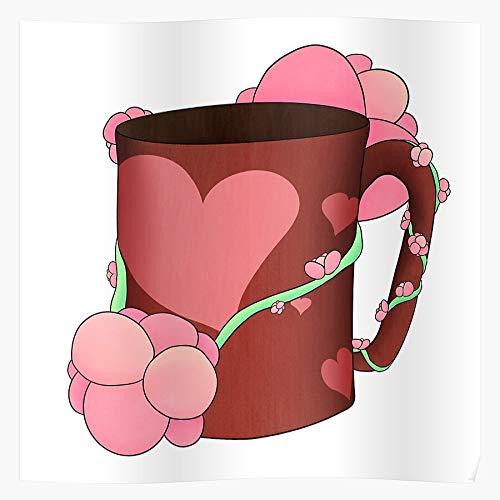 Mug Cup Vine Vines Blossoms Flower Flowers Coffee El póster de decoración de interiores más impresionante y elegante disponible en tendencia ahora
