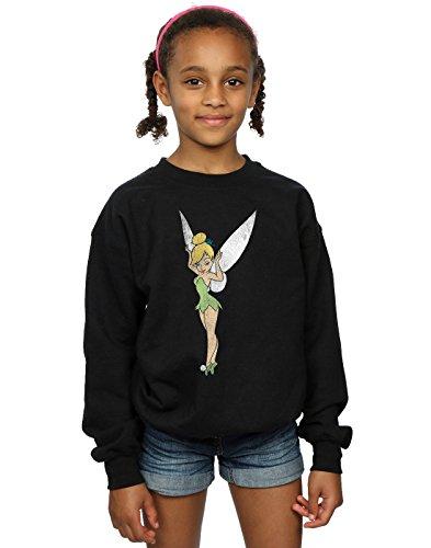 Disney Mädchen Peter Pan Classic Tinkerbell Sweatshirt 12-13 years Schwarz